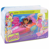Set Polly Pocket Spinning Car And Polly Con Auto Mattel