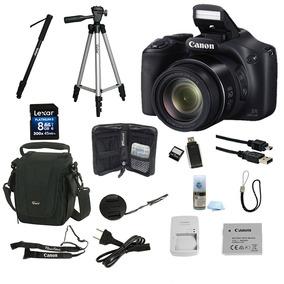 Câmera Canon Sx520hs C/ Sd 8gb + Super Kit De Acessórios