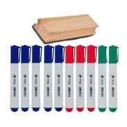Kit 10 Canetas Coloridas Quadro Branco + Apagador Reforçado