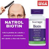 Biotina Natrol 10,000 Mcg 100 Tabletas - Versión Mejorada