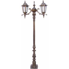 Poste Verona Mini Com 02 Luminárias