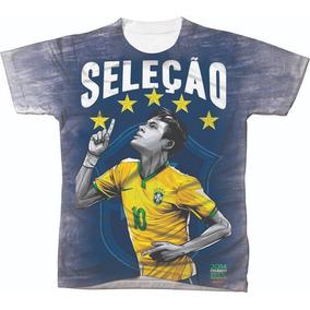 Camiseta Camisa Manga Curta Copa Do Mundo Seleção Futebol 13
