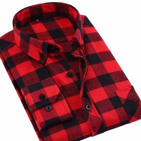 Camisa Masculina Xadrez De Flanela Lenhador