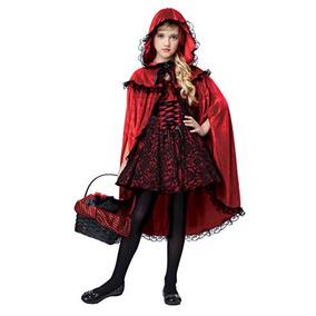 disfraces california caperucita vestuario de lujo rojo n