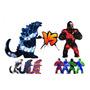 Red and Blue Godzilla