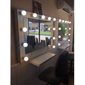 Espejo Luces Hollywood Camarin Maquillaje Incluye 12 Lamp