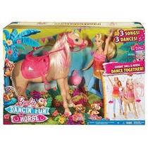 Boneca Mattel Barbie Familia Cavalo Dancarino Dmc30