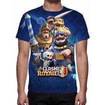 Camisa, Camiseta Game Clash Royale - Estampa Total