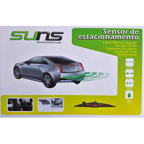 Kit Sensor De Estacionamento 4 Pontos Display Sonoro Suns Pr