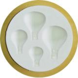 Molde De Silicone 4 Balões Confeitaria E Biscuit