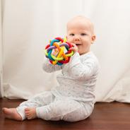 Sonajero Mordillo Silicona Bebé Playgro Bendy Ball
