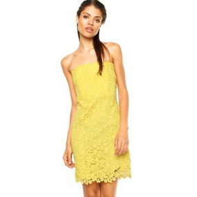 Vestido A.brand Renda Amarelo