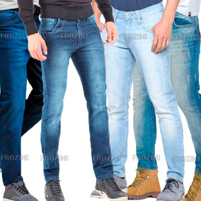 Kit 10 Calças Jeans Lycra Masculina Skinny Slim Fit Atacado
