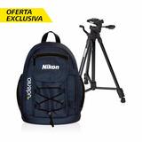 Kit De Mochila Fotográfica Y Tripode Prostaff Nikon