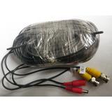 Cable Camara Seguridad De Video Corriente Bnc Y Plug