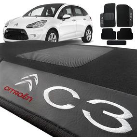 Jogo De Tapete Carpete Citroen C3 2003 A 2012 Preto 5 Peças
