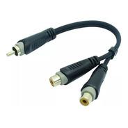 Cable Roxtone Rayc570l02 1 Rca Macho 2 Rca Hembra 20cm