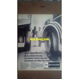 Antigua Publicidad Neumaticos Dunlop Para Colectivos Y Camio
