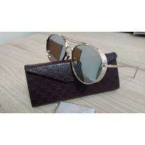 Óculos Gucci Round Prata/silver - Aviador Lançamento