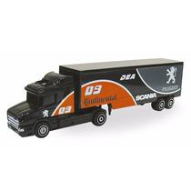 Miniatura Caminhão Guisval Scania Continental, Carreta Bau