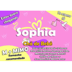 Kit Personalizado Convites Chá De Bebê 50 Itens