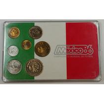 Set 7 Monedas Mundial Futbol Mexico 1986 !
