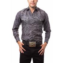 Camisa Caballero Wrangler Negro Algodón 51rehs748