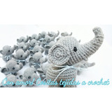 Souvenirs Elefantes Tejidos A Crochet Recién Nacidos Festejo