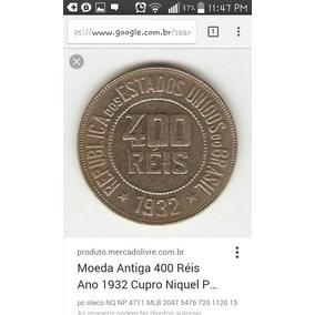 Moeda Rara 400 Reis