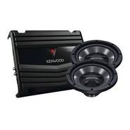 Kenwood - 12 Subwoofers Y Amplificador - Negro