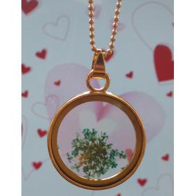 Collar Regalo Novia 14 De Febrero Amor Encapsulado Flores