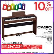 Casio Privia Px760 Piano Digital 88 Teclas + Mueble Outlet