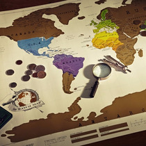 Mapa Mundi Raspadinha Mapa De Raspar Scratch Map