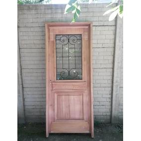 Puerta Estilo Antiguo Con Reja Y Vidrios Beraldi Aberturas
