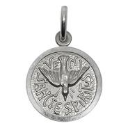 Medalla Dije Espíritu Santo Plata 925 Con Relieve