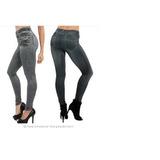 Calça Leg Fake Imita Jeans - Suplex Fitness Ginastica