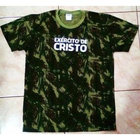 Camiseta Camuflada Exercito De Cristo Com Cd De Brinde