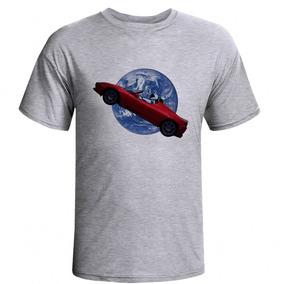 4b5e4c804d Camiseta Raglan Viagem Ao Espaço - Carro Astronomia.