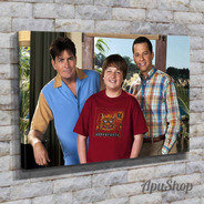 Cuadros Lienzo Canvas 60x40 Serie Tv Two And A Half Men