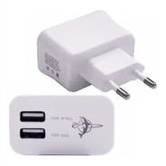 Carregador Usb Duplo P/ Tablet Amazon Kindle 5v 3a - Branco