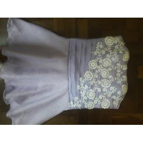 Vestido Debutante Curto Lilas Com Branco +brinde