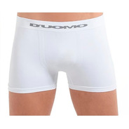 Cueca Boxer Sem Costura Em Algodão Duomo Kit Com 9 Brancas