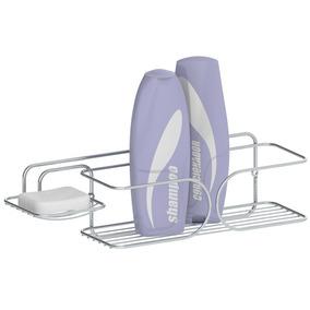 Suporte Para Shampoo E Sabonete P/ Parede Em Aço Cromado