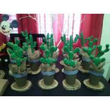 5 Cactus, Centro De Mesa Souvenirs, Decoracion Porcelana