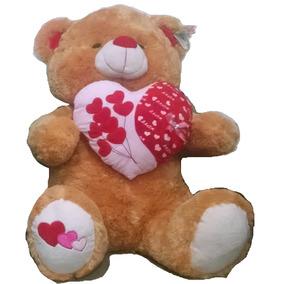 Urso De Pelúcia Gigante - Coração Amor - 85cm - Fizzy