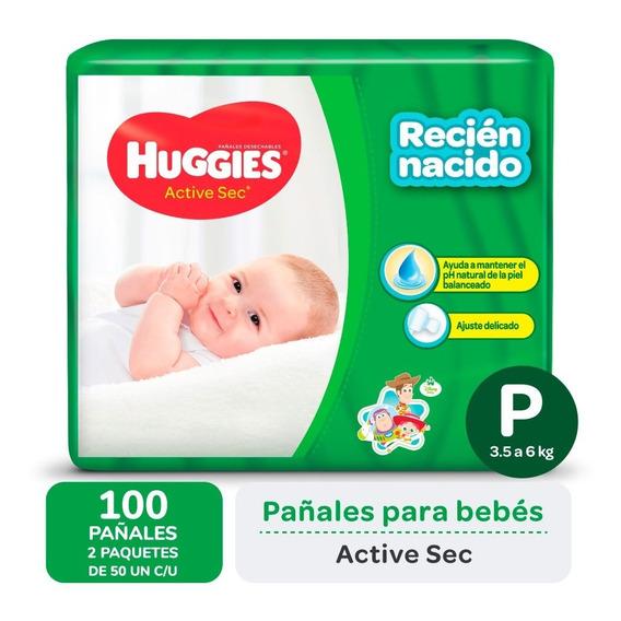 Pa?ales Huggies Active Sec P Promopack X 50 Pack X 2
