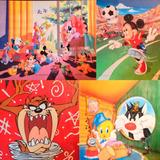 15 Cuadros Láminas Infantiles Mickey Disney Warner Bros
