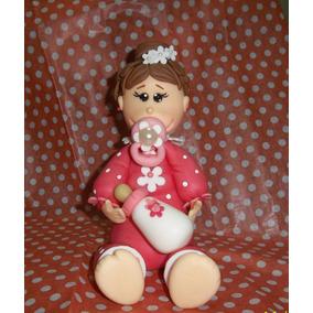 Bebe Nena Adorno Torta Bautismo Primer Añito Porcelana Fria