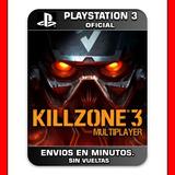 Killzone 3 Ps3 Multiplayer Solo Online Digital Español