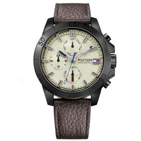 Relógio Masculino Tommy Hilfiger Couro Marrom - 1791164